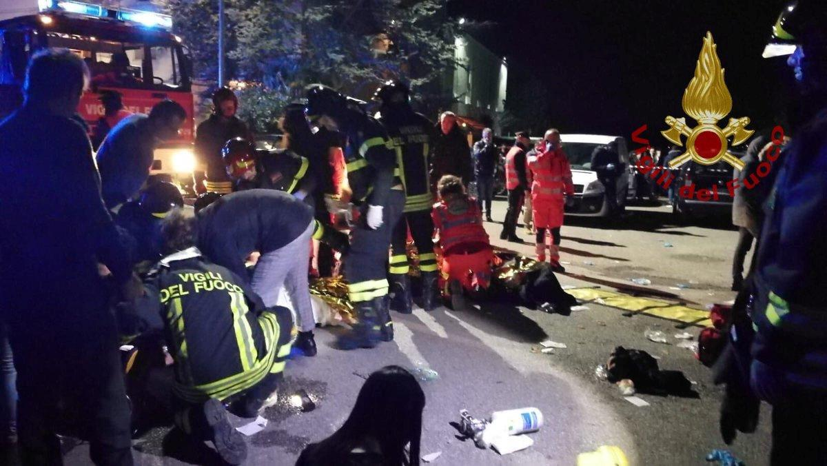 At least six, mostly teenagers, killed in Italy nightclub stampede