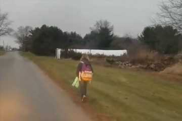 Dad makes daughter walk 8km to school after she bullied kids on bus