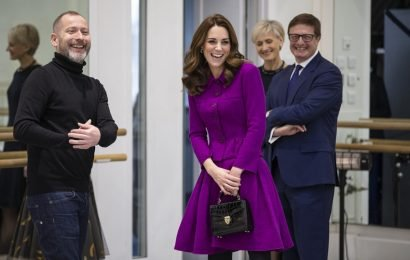 Kate Middleton's Purple Oscar De La Renta Suit Is 2 Years Old, But She Styled It To Look Brand New