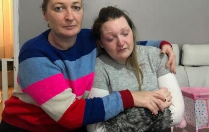 Pregnant single mum stuck in freezing house covered in mould 'can't stop crying'