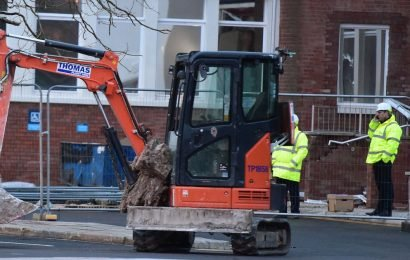 'Unpaid' digger driver's six-word scream after ploughing into Travelodge