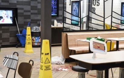 Gruesome scenes in McDonald's after stabbing victim ran inside crying for help