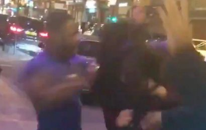 Hunt for man filmed brutally beating woman outside London club on New Year's Day