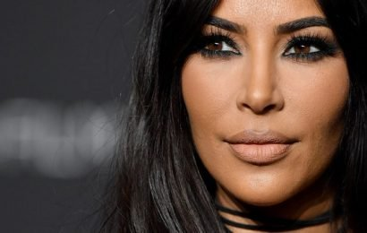 Kim Kardashian's Sheer Lace Bodysuit She Wore to John Legend's 40th Birthday Bash Is Straight Fire