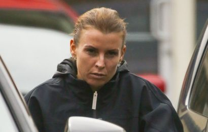 Coleen Rooney goes make-up-free as she drives new £53k Audi days after crash