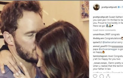 'So happy you said yes': Chris Pratt engaged to Katherine Schwarzenegger