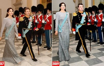 Crown Princess Mary wears same outfit to reception as she did in 2017