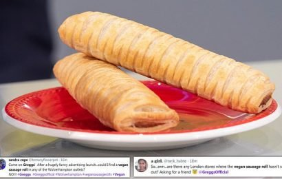 Greggs' new vegan sausage roll is sold out in store