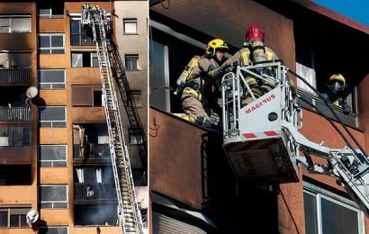 Three dead and baby fighting for life after blaze in Barcelona
