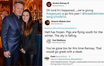 Gordon Ramsay shocks fans by announcing he's trying Veganuary