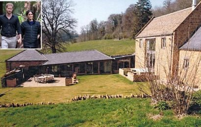 Pictured: Harry and Meghan's £2.5m country bolthole