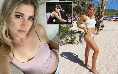 Eugenie Bouchard hunts for a date on Instagram from her hotel room
