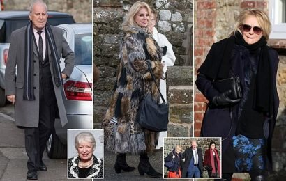 June Whitfield's co-stars join family for funeral
