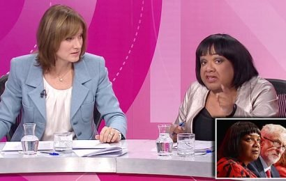 Fiona Bruce faces sexism accusations for joking about Diane Abbott