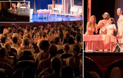 French naked show where audience has to strip off to be allowed in