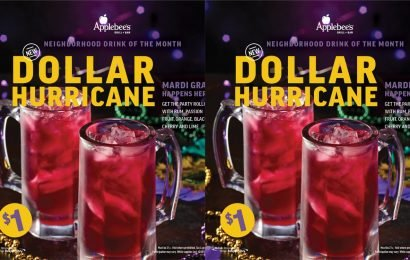 Applebee's Just Launched A Mardi-Gras Hurricane — And It's Only A Dollar