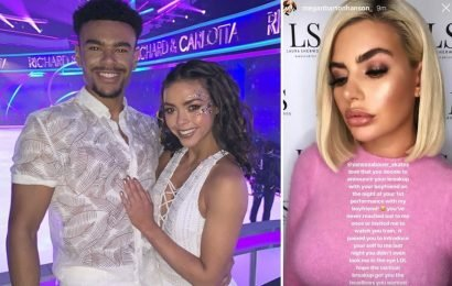 Megan Barton Hanson's 'love rival' Vanessa Bauer shares emotional post about 'women empowerment' after being accused of tactical breakup