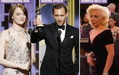 The most awkward Golden Globes moments of all time, including Lady Gaga bumping into Leonardo DiCaprio and Emma Stone's epic hug fail