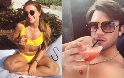 Dani Dyer sips champagne poolside after jetting off to Dubai with boyfriend Jack Fincham to get their relationship back on track