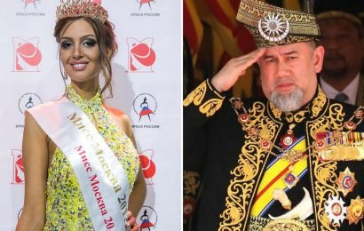 Russian beauty queen, 25, 'expecting baby' with King of Malaysia, 49, who suddenly quit after marrying the reality star