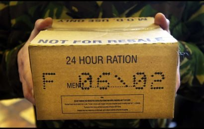 Thousands of unused Army ration packs will be donated to charity across UK