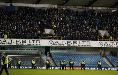 Millwall face stadium closure threat after FA launch investigation into racist chanting by fans in Everton game