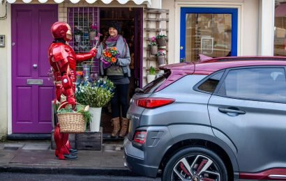 Iron Man stuns locals who spot Marvel superhero at local shop in Bristol