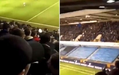 Millwall fans chant 'I'd rather be a P*** than a Scouse' in sickening racist taunt at Everton fans during FA Cup tie