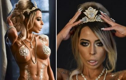 'KFC heiress' Kaila Methven poses in nothing but £10million worth of diamonds saying she wants to 'empower women' by stripping off