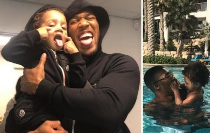 Anthony Joshua melts hearts on Twitter with emotional post to three-year-old son JJ