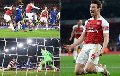 Top four race heats up as Lacazette and Koscielny lead way for Arsenal in huge win over Chelsea