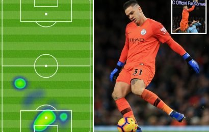 Ederson gets bored during Man City win over Wolves and joins outfield players in midfield