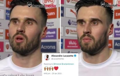 Arsenal stars and fans alike gush over Jenkinson after passionate interview revealing desire to break into team