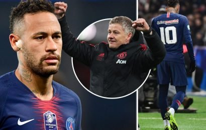 Joy for Man Utd as Neymar ruled out of BOTH Champions League games with metatarsal injury