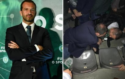 Sporting president rushes to save life of fan with apparent heart problems after win over Porto