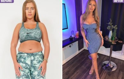 Love Island's Tyne-Lexy looks unrecognisable after dropping 8lbs in six weeks to lose her muffin top from partying
