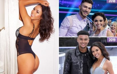 Dancing on Ice beauty Vanessa Bauer stuns in sexy lingerie as she prepares to defend title with Love Island's Wes Nelson