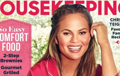 Chrissy Teigen Is Pajama Party #Goals on New Mag Cover