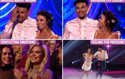 Wes Nelson's Dancing On Ice 'signature cockiness' is gone after split while Megan Barton Hanson's smile shows 'conflicting emotions', body language expert reveals