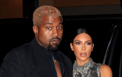 Kim K. and Kanye Took In a Star-Studded Sunday Service