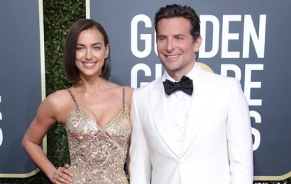 Irina Shayk Is A Golden Goddess In Sexy Sheer Dress At Golden Globes