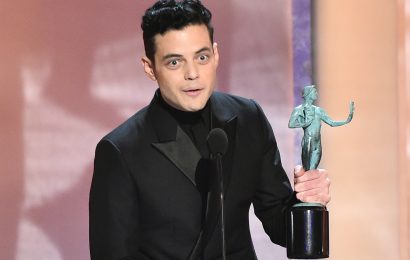 Rami Malek Kisses Lucy Boynton After Winning Best Performance by a Male Actor in a Leading Role