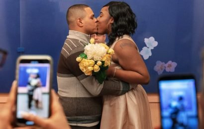 They Married at City Hall (But Didn't Toss the Bouquet)