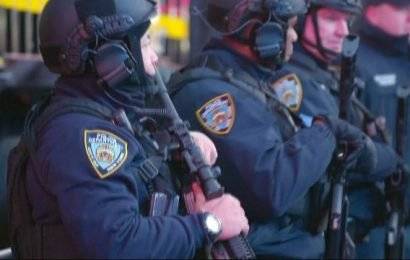 New York police on high alert for New Year's Eve