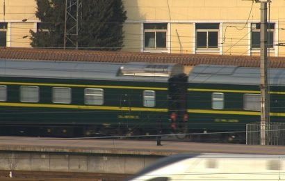 Train believed to be carrying North Korea's Kim leaves Beijing