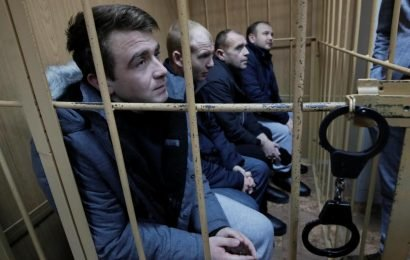Russia rules to hold jailed Ukrainian sailors until April 24: agencies