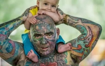 Dad, 42, who spent £50,000 covering entire body with tattoos has 'no regrets'