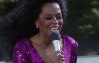 Exclusive Diana Ross film clip shows singer brave storm at historic concert