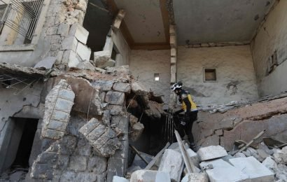 Blood soaked little girl rescued from rubble after airstrike kills sister