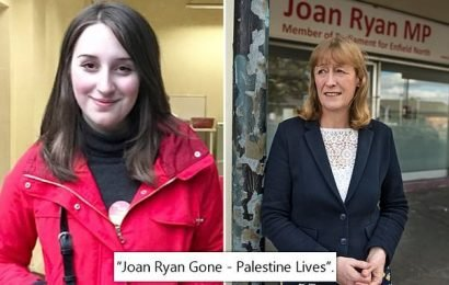 'Joan Ryan Gone – Palestine Lives': Young Labour tweet after MP quit